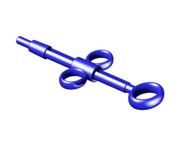 3D model endoscopy handle