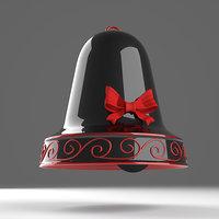 black red trendy christmas bell 3D model