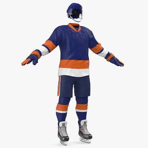 hockey blue equipment 3D model