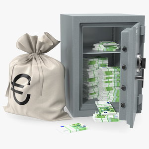 safe euro money 3D