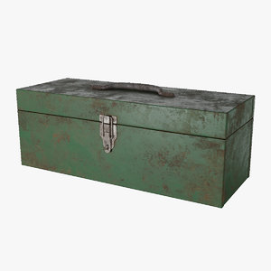3D old toolbox model