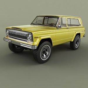 1975 jeep cherokee sj 3D model