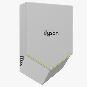 3D hand dryer dyson airblade