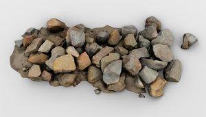 rock pile 3D model
