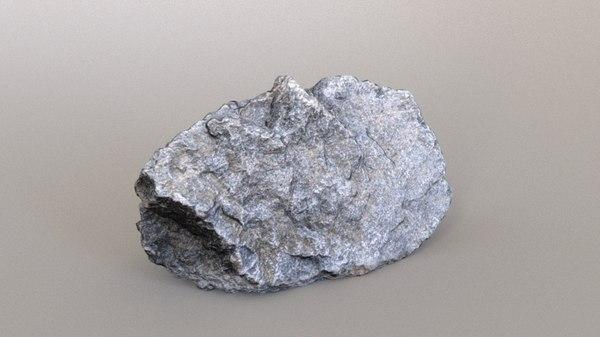 photoscanned rock 3D model