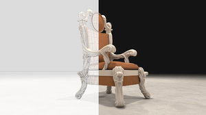 carved throne 3D
