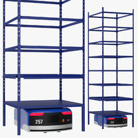 3D warehouse robot rack generic model