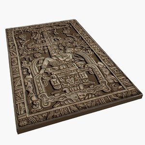 king pakal tomb lid model