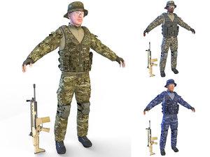 soldier 4k lights model