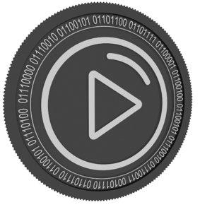 bittrue black coin 3D