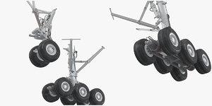 3D boeing 777x landing gears model