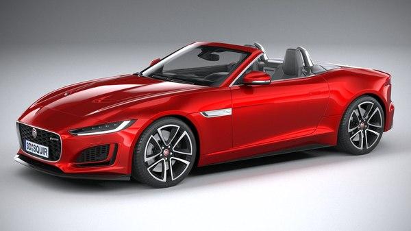 3D f-type convertible 2021 model
