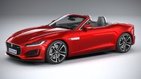 3D f-type convertible 2021 model