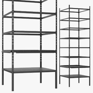 3D model storage rack