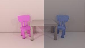 3D ikea baby table