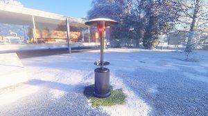 patio heater 3D model