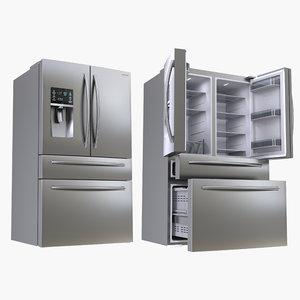 refrigerator samsung 4 3D model