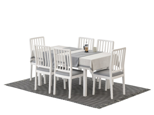 chair ikea ekedalen table 3D model