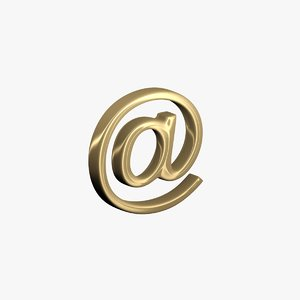 3D email symbol modeled model