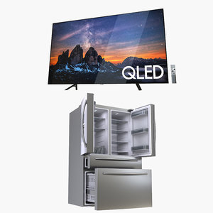 3D model samsung refrigerator tv