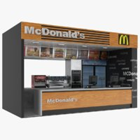 Fast Food McDonald's Counter