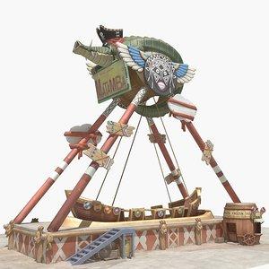 3D model ship theme park