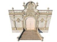 3D entrance classic facade