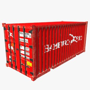 3D shipping container sud model