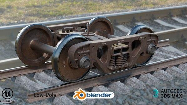railway bogie 3D
