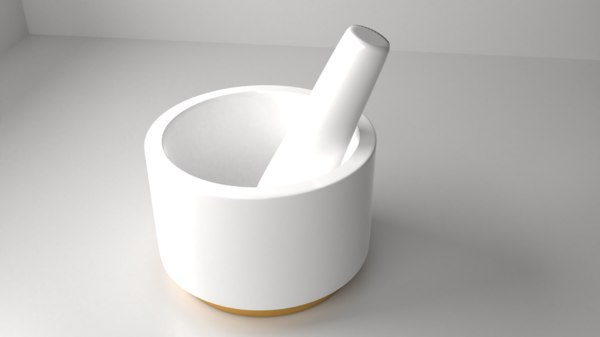 ceramic mortar pestle 17 3D model