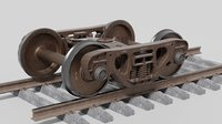 Lowpoly freight bogie