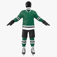 3D hockey green equipment model