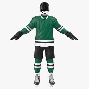 3D hockey green equipment model