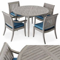 3D furniture argento chair table
