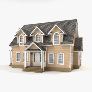two-story cottage 90 3D model