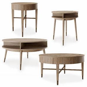 3D model fairfield table set la