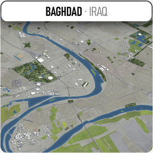 baghdad surrounding - 3D model
