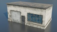 Smal garage low poly