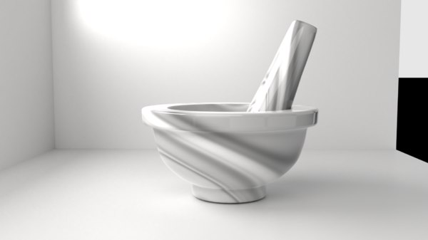 marble stone mortar pestle model