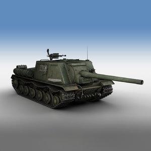 isu-122 - 336 soviet 3D