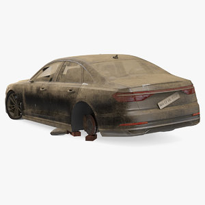 3D abandoned generic car