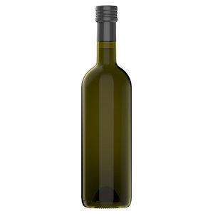 bordolese 750ml olive oil 3D