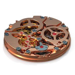 watch mechanism pbr model