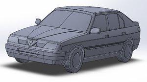 3D car alfa romeo 33