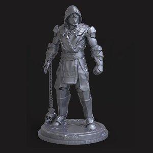 mk scorpion sculpture 3D model