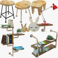 3D loft furniture accessories
