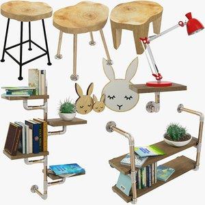 3D loft furniture accessories