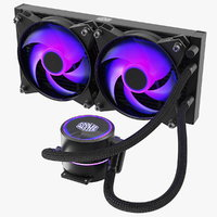 3D cooler master masterliquid pro model