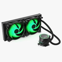 dual fan cpu rgb 3D model
