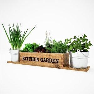 kitchen garden 3D model